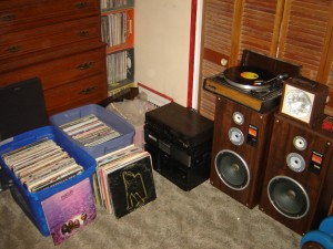My stereo and a few more records.