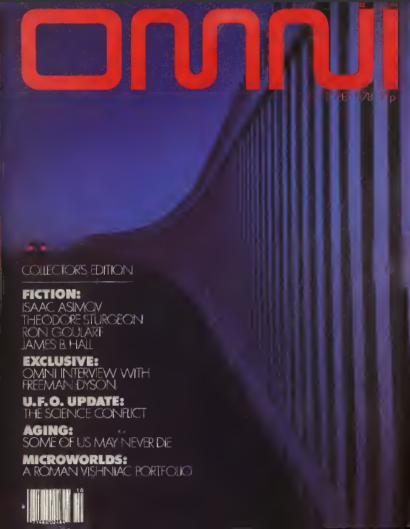 Omni's premier issue, October 1978.