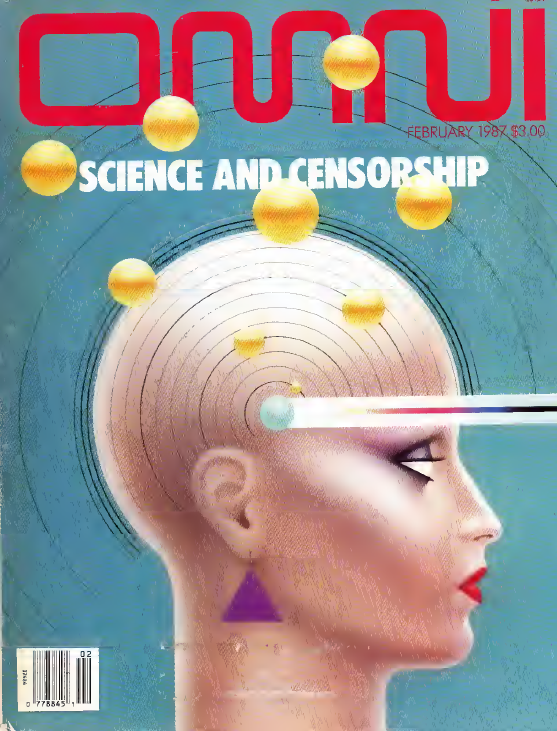 Cover of Omni's February 1987 issue. Just one of many back issues that are now available for purchase.