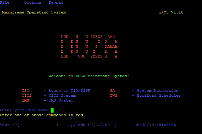 Welcome to the DUZA system!
