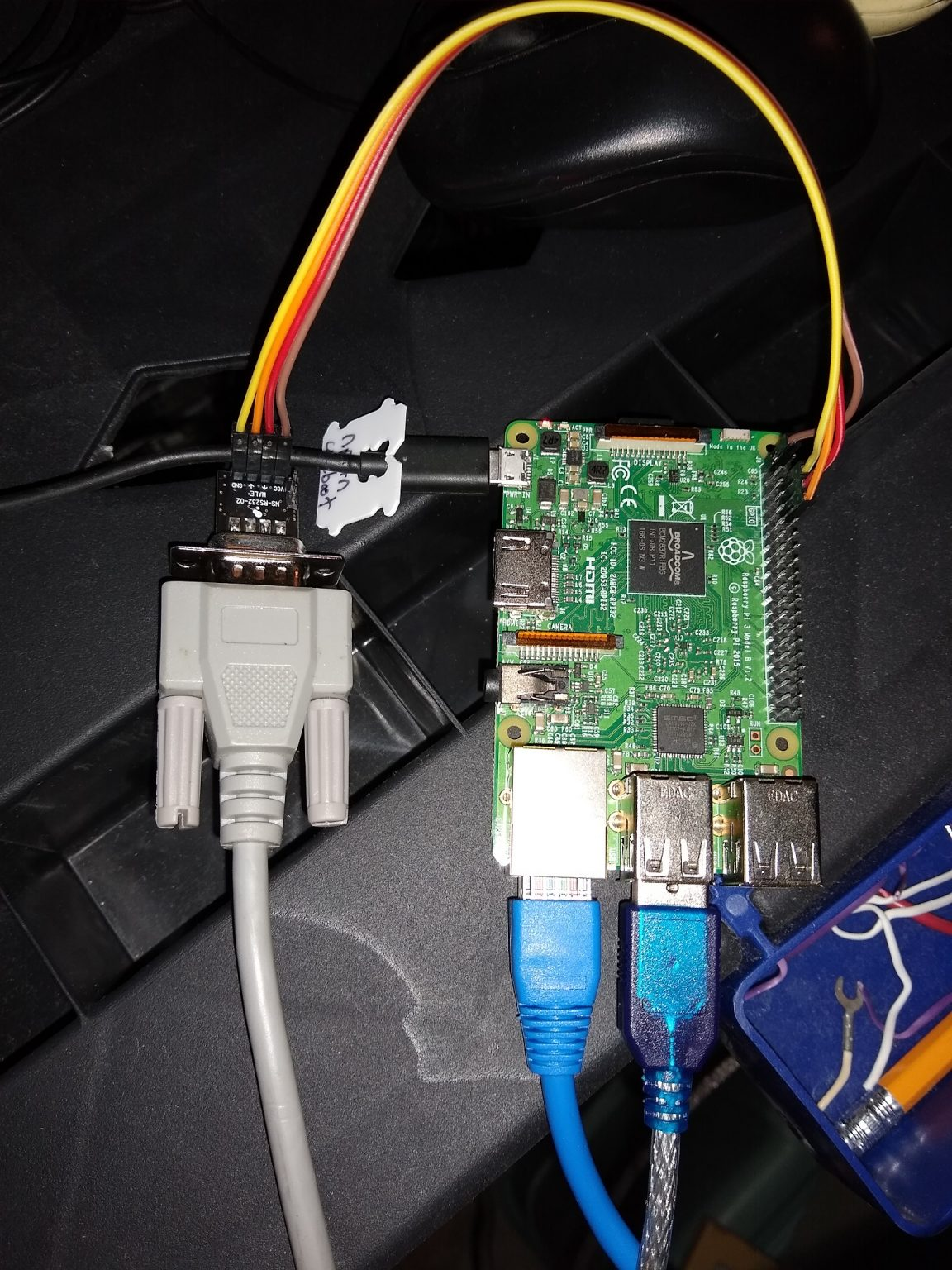 The convertor connected to the RPi.